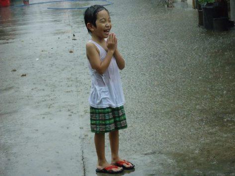 Praying Under The Rain