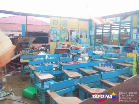 Calbayog Western Samar Elementary School Damage Roof